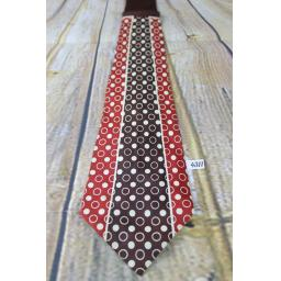 "Superb Vintage 1940s/1950s Brent Rust Red & Brown Tie 4"" Wide Lindyhop/Swing"