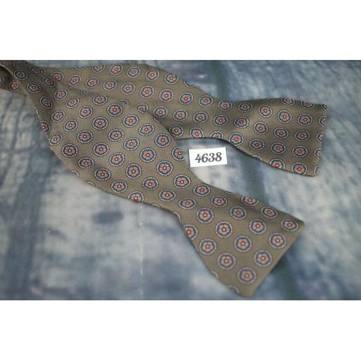 Silk Self Tie Straight End Copley Thistle Bow Tie Cool Colour Smart Pattern