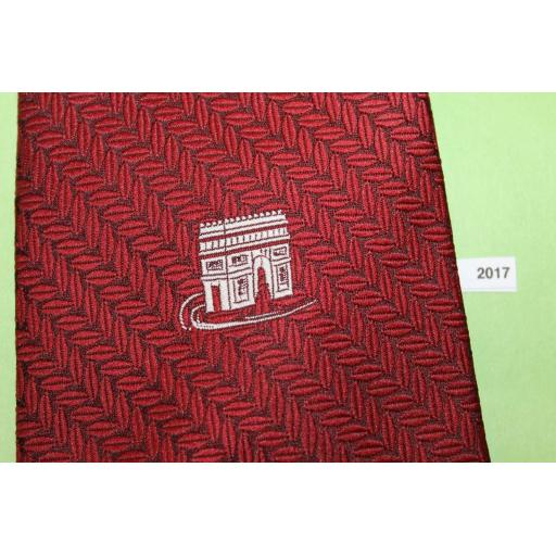 Superb Vintage 1960s/70s Wemlon By Wembley Burgundy Arc De Triomphe Tie