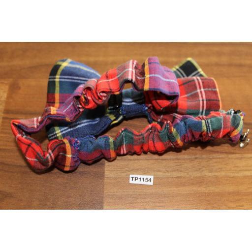 Vintage Tartan Plaid Pre Tied Elasticated Bow Tie