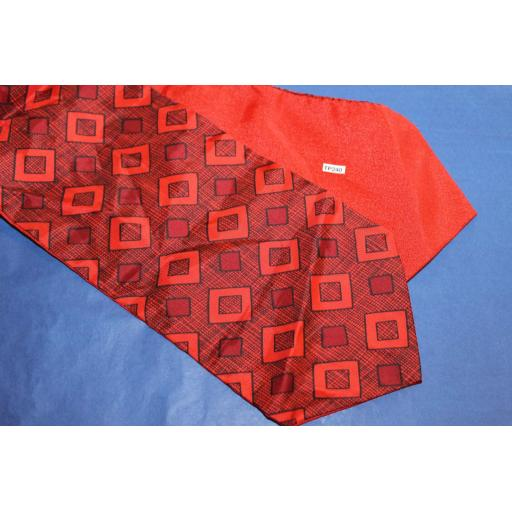 Vintage Red/Black Patterned Cravat Retro Mod