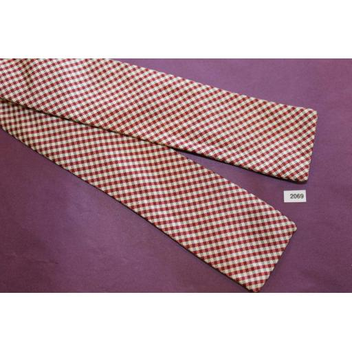 Vintage 100% Silk B Altman & Co Self Tie Square End Bow Tie