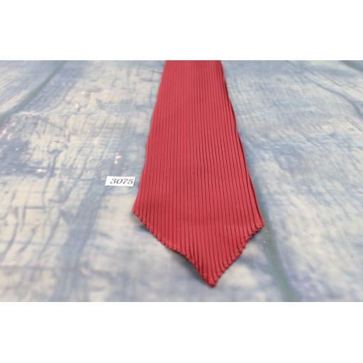 """Superb Vintage Princeton 1940s/1950s Tie 3.5"""" Wide Burgundy Pleat Very Unusual"""