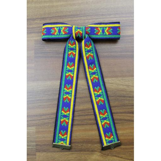 Vintage Style New Aztec Red Green Blue Yellow Clip On Western/Cowboy/Kentucky Bow Tie