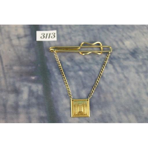 Vintage Hadley Gold Metal Shirt Clip & Tie Chain