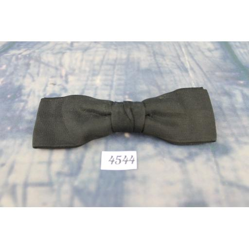 Vintage Classic Black Grosgrain Double Bow Square End Clip On Bow Tie