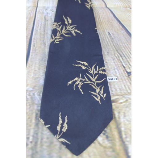 "Superb Vintage 1960s 1970s Arrow Black Bamboo Design 4.25"" Wide Tie"