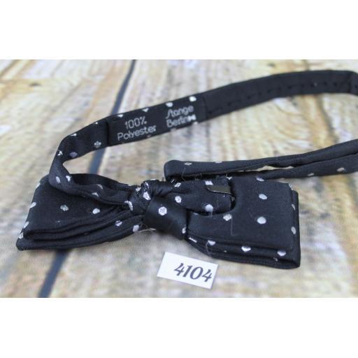 Vintage Stange Berlin Fabulous Black & Silver Patterned Pre-tied Adjustable Bow Tie