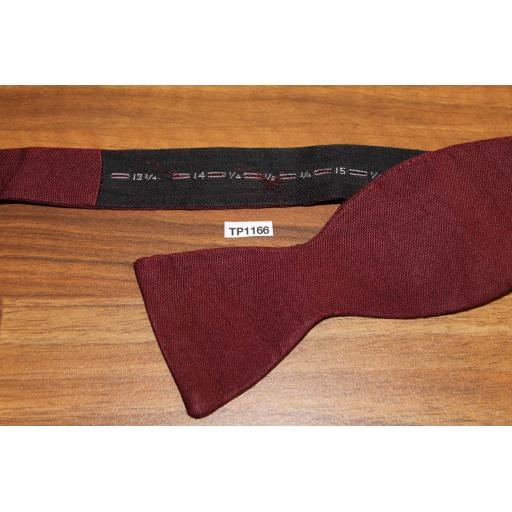 Vintage Self Tie Thistle End Bow Tie Classic Burgundy