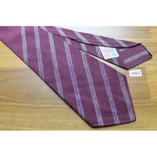 Vintage 1940s/1950s Wembley Burgundy Stripe Non Crush Tie Lindyhop/Swing/Zoot Suit/Rat Pack