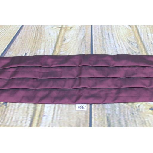 Marks & Spencer Burgundy Satin Adjustable Pleated Cummerbund