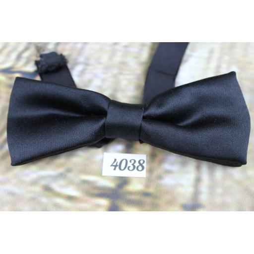 Vintage Classic Black fabric Pre-Tied Bow Tie One Size Fits All