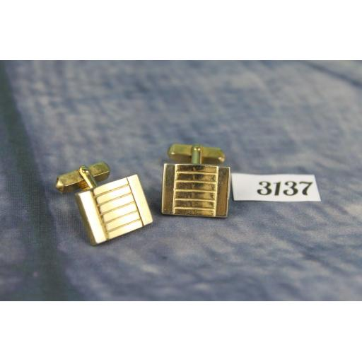 Vintage Swank Gold Metal Cuff Links