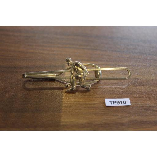 Vintage Strattons Gold Metal Tie Pin Bowling