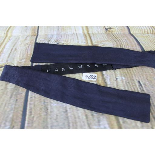 Vintage Classic Navy Self Tie Adjustable Straight End Skinny Bow Tie