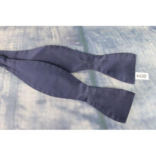 Vintage Finchley Self Tie Straight End Thistle Bow Tie Classic Navy