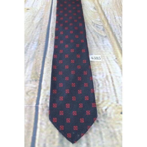 Vintage Arrow 1960s Narrow Skinny Jim Mod Era Tie Black & Burgundy