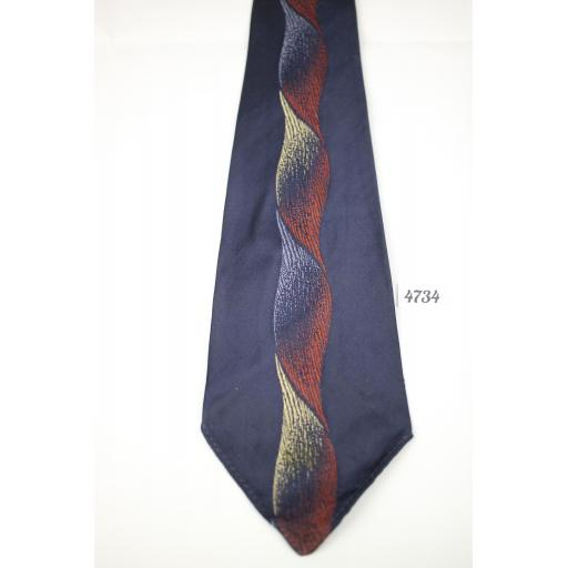 1940s 1950s French Panel for The May Company Denver Beautiful Design Slim Jim Tie