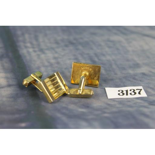 Vintage Swank Gold Metal Cuff Links