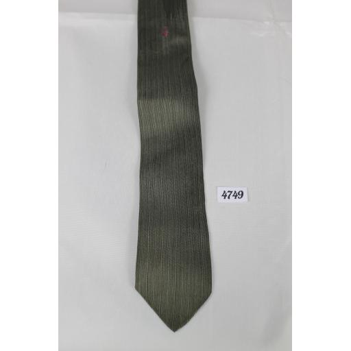 1950s 1960s Silver Grey Beau Brummel Skinny Slim Jim Rat Pack Classic Tie