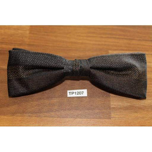 Vintage Clip On Bow Tie Striped Pattern