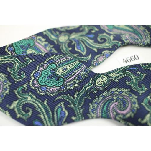 Polo Ralph Lauren All Silk Self Tie Straight End Thistle Paisley Bow Tie (1)