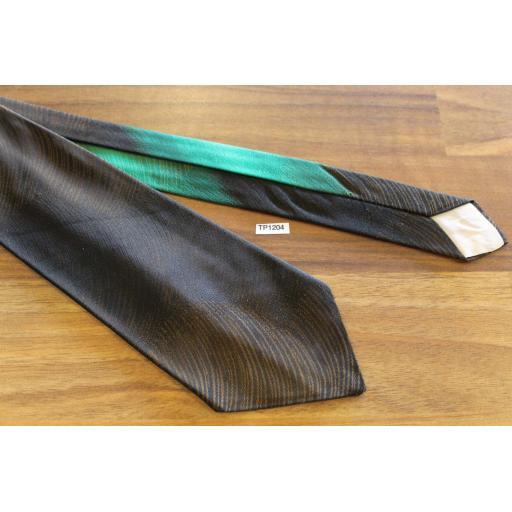 "Vintage Bronze Gold Green 3"" Tie Narrow/Skinny Jim/ Mod"