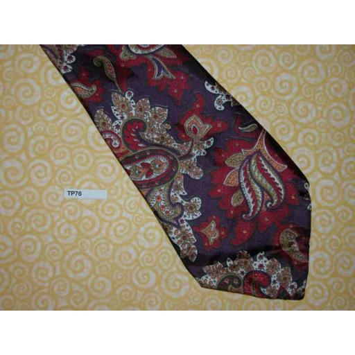 "Vintage 4.5"" Wide Paisley Swing Tie Rat Pack Lindyhop Zoot Suit"