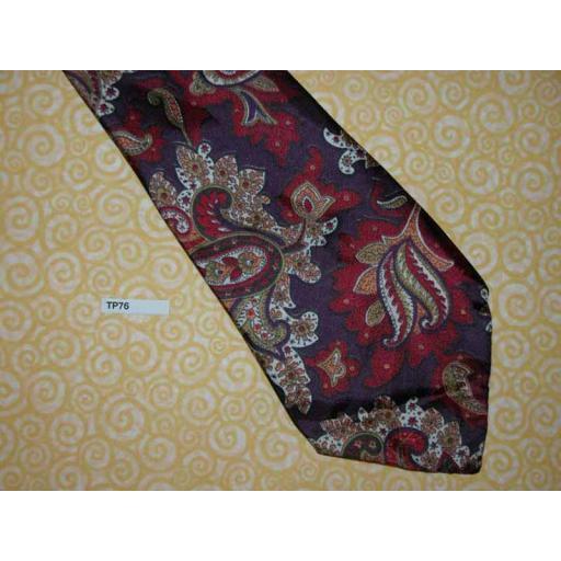 "Vintage 4.5"" Wide Paisley Swing Tie Rat Pack Lindyhop Zoot Suit"