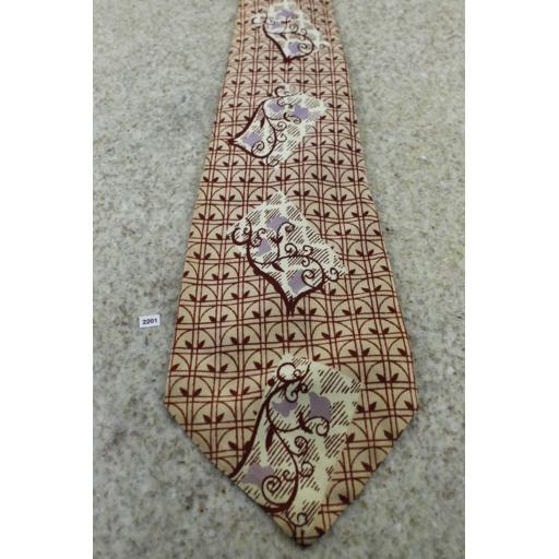 "Superb Vintage 1940s/1950s Donegal Tie 4.25"" Wide Lindyhop/Swing/Zoot Suit/Rat Pack"