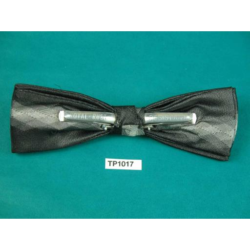 Vintage Black & Shades of Grey Diamond Pattern Square End Clip On Bow Tie