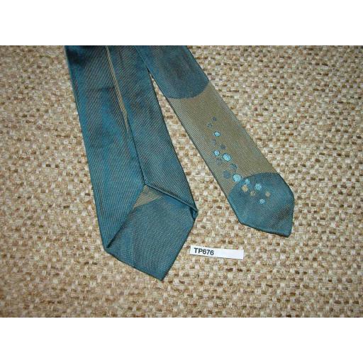 Vintage 1950s/60s Narrow Skinny Jim Mod Era Two Tone Blue Trask's Tie