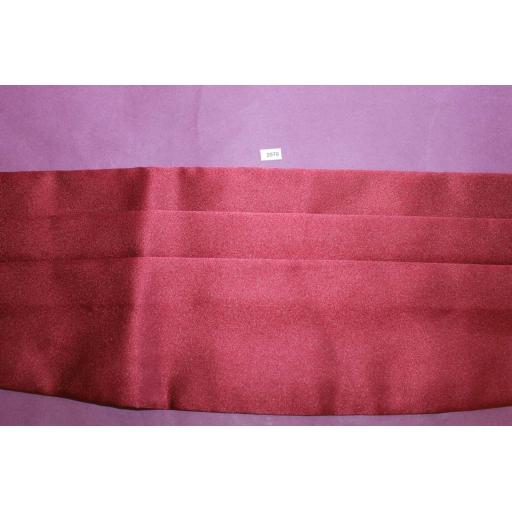 Burgundy Satin Adjustable Pleated Cummerbund