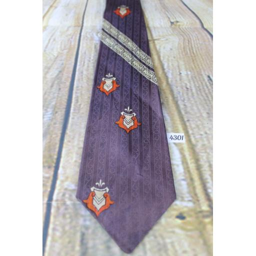 "Superb Vintage 1940s/1950s Jelineks Metcalf Cravats Jacquard Tie 3.5"" Wide Lindyhop/Swing/Zoot Suit/Rat Pack"