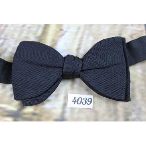Vintage Classic Black Grosgrain Pre-Tied Bow Tie Adjustable