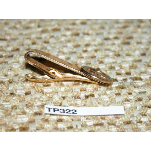 Vintage Gold Metal Tie Clip National Rifle Association Of America TP322