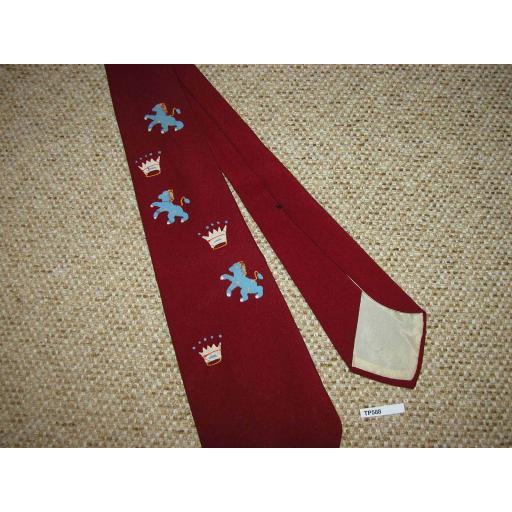 "Vintage 1940s/50s Hand Painted Vogue Tie 4"" Swing/Zoot Suit/Rat Pack"