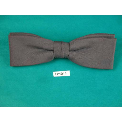 Vintage Aubergine Square End Clip On Bow Tie