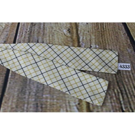 Vintage Cross Hatch Patterned Self Tie Square End Paddle Bow Tie Original Price Tag!