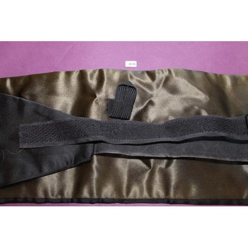 Black Satin Adjustable Pleated Cummerbund