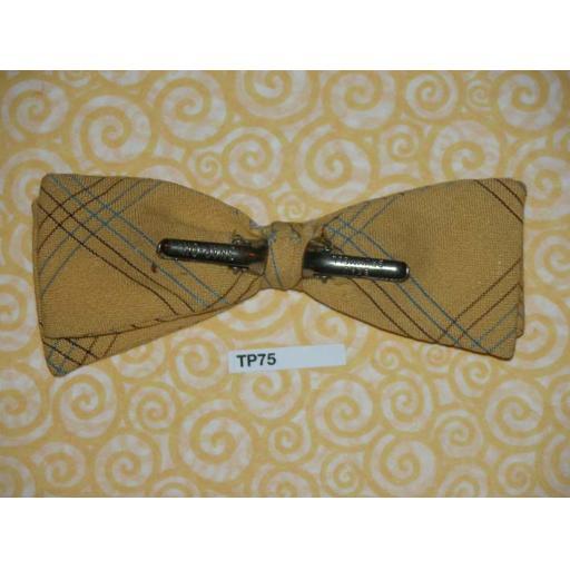Vintage 1950s Clip On Bow Tie Beau Brummell U.S.A