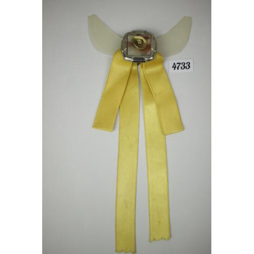 Vintage Lemon Ribbon Cowboy Hat Clip On Western/Cowboy/Kentucky/Square Dance Bow Tie