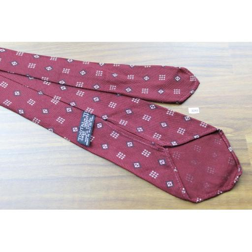 Vintage Tootal 1950s Tie Burgundy & Cream All Rayon