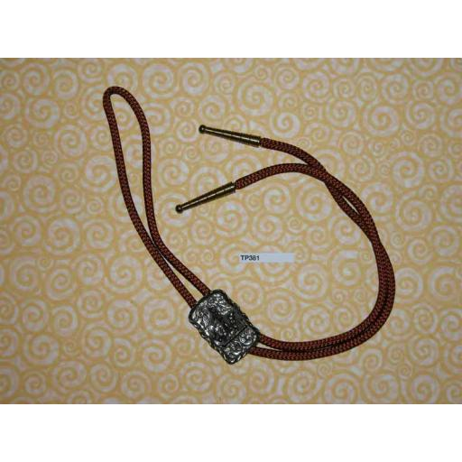 Western/Cowboy Bolo Tie Vintage Rodeo Bull Rider Toggle and Ends