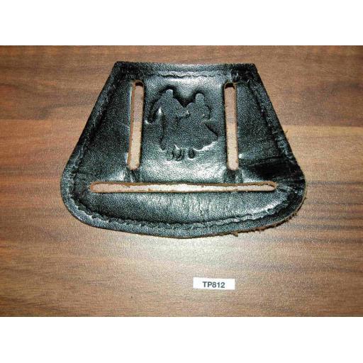 Vintage Leather Line/Square Dance Western Towel Holder Fits On Belt