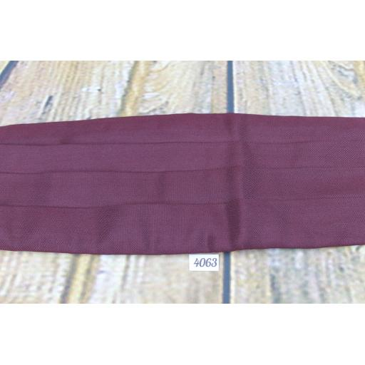 Vintage Kendal Milne Acko 100% Silk Burgundy Adjustable & Elasticated Pleated Cummerbund