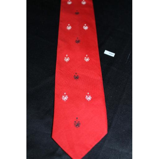 Vintage 1960s Retro Skinny Jim Mod Beatles Tie Red Black & White