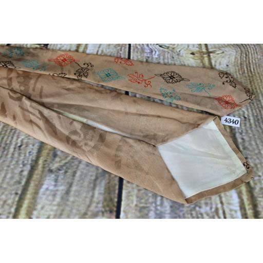 "Superb Vintage 1940s/1950s Arrow Tie Peach Jacquard 4.25"" Wide Lindyhop/Swing"