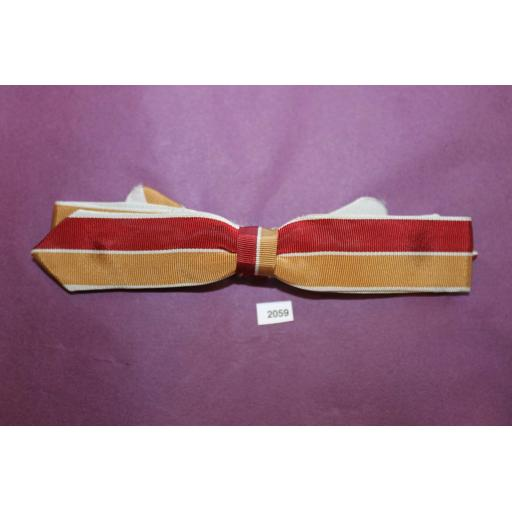 Vintage Western Cowboy Burgundy Mustard & Grey Skinny Arrow End Clip On Bow Tie