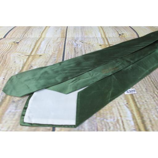 "Superb Vintage 1940s/1950s Hand Painted Dark Green Wild Ducks Tie 4.5"" Wide Lindyhop/Swing"